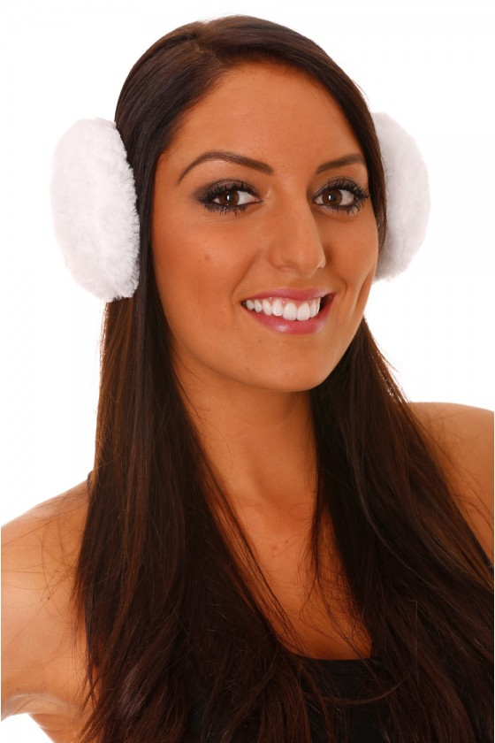 Cache oreilles Blanc Style Polaire.