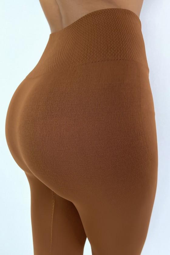 Leggings camel épais ventre plat taille haute